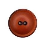 Steinnussknopf 25 mm 2-Loch vintage brau