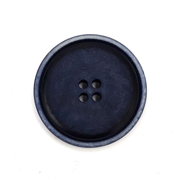 Steinnussknopf 30 mm 4-Loch dunkelblau