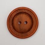 Polyesterknopf 28 mm 2-Loch Vintage oran