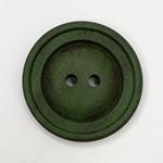 Polyesterknopf 28 mm 2-Loch Vintage grün