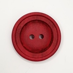 Polyesterknopf 28 mm 2-Loch Vintage rot