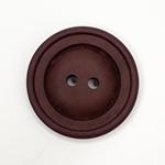 Polyesterknopf 28 mm 2-Loch Vintage brau