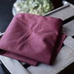 ORGANIC DRY WAX Canvas wine red