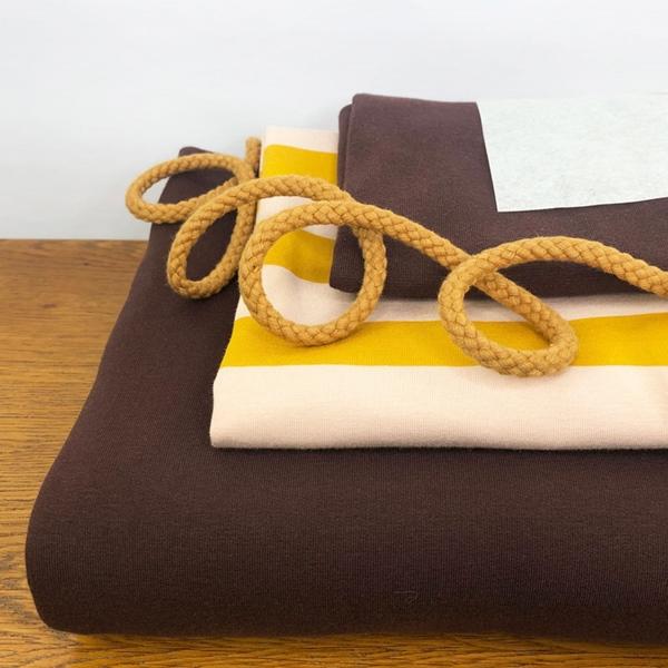 Nähpaket HUDIE braun gelb ohne Schnitt