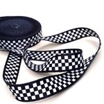 Gurtband 25 mm schwarzblau weiß