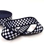Gurtband 38 mm schwarzblau weiß