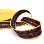 Gurtband Ethno 25 mm gelb schwar braun