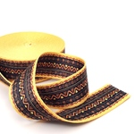 Gurtband Ethno 38 mm gelb schwar braun