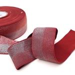 Gummiband zweifarbig Lurex 40 mm rostrot