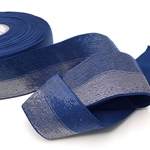 Gummiband zweifarbig Lurex 40 mm ozean