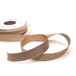 Fischgratköperband 15 mm beige gold