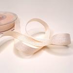 Fischgratköperband 15 mm apricot glitzer