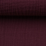 JENKE Double Gauze Musselin bordeaux