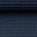 NELSON Waffelpique jeansblau