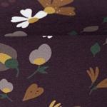 BASEL Sweat Blüten Herbst aubergine