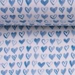OCEAN BREEZE Herzen blau weiß
