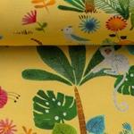 TOMMY Dschungeltiere gelb bunt