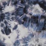 LEXI Viskose Batikblumen weiß blau schwa