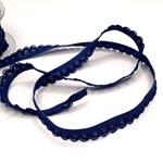 elastische Rüsche 15 mm blau