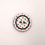 Polyesterknopf 18 mm Mini-Anker weiß
