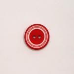 Polyesterknopf 18 mm rot weiß