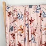 ELITA Viskosejersey Blumen puderrosa