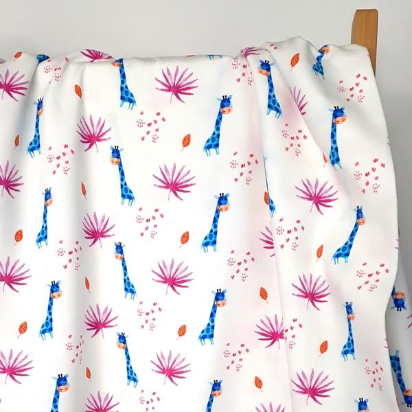 GIRAFFE PARADISE Jersey Giraffen weiß