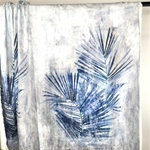 JACINTA Baumwollsatin Panel 1,10m Palmbl