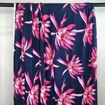 MELATI Viskose Blüten dunkelblau pink