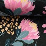 JESSE Jersey Blumen schwarz pink