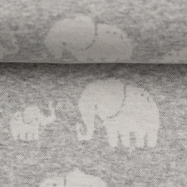 MADITA Jacquard-Jersey Elefant grau