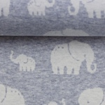 MADITA Jacquard-Jersey Elefant blau