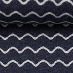 MADITA Jacquard-Jersey Wellen dunkelblau