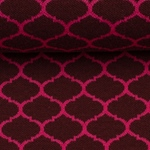 BRICK BY BRICK Jacquard bordeaux pink