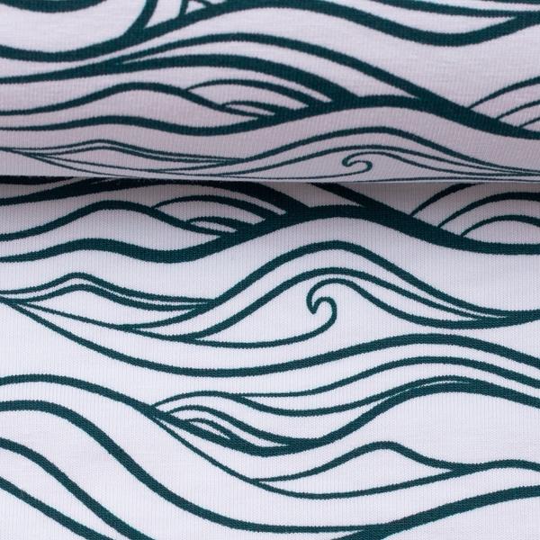 WAVES by Käselotti Jersey weiß blau