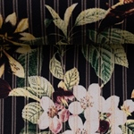 MARTHA Baumwollsatin Blumen Streifen
