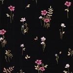 COVENT GARDEN Popeline Blumen schwarz
