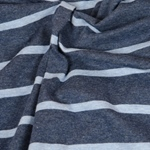 CAMPANO Jersey Streifen blau mel. blau