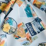 KALAMA Popeline Hawaii hellblau