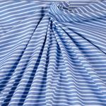 CAMPAN Jersey Streifen blau hellblau