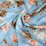 KOMEKO Viskose Blüten hellblau