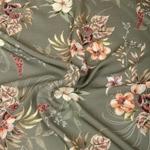 BLOSSOM Viskose große Blüten khaki