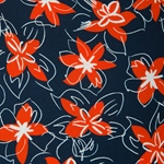 JUSTINIA Viskose Blüten dunkelblau rot