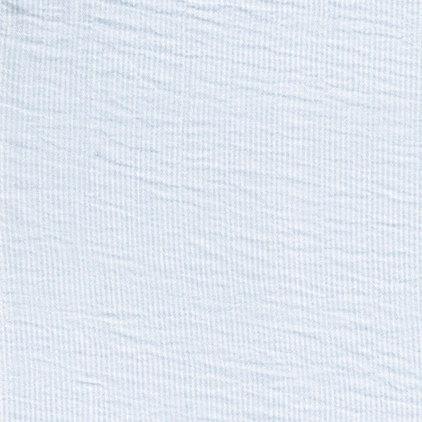 MIAN Seersucker Streifen hellblau weiß