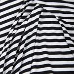 VAUBOURG Viskosejersey schwarz weiß