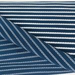 BIRTE Strukturjersey azurblau weiß