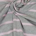 CAMPANO Jersey Streifen grau mel. rosa