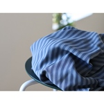 LYOCELL TWO-TONE STRIPE TWILL dusty blue