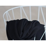 SELF-STRIPE OTTOMAN KNIT black
