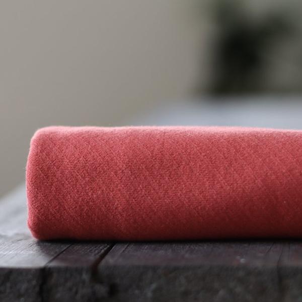 ORGANIC BIASED INTERLOCK russet red